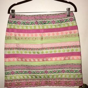 Lily Pulitzer Ribbon Skirt with white label